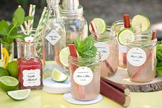 The Rhubarb Mojito - Party Inspiration Rhubarb Mojito, Yummy Drinks, Yummy Food, Low Carb Dinner Recipes, Custom Labels, Food To Make, Beverages, Dessert Recipes, Cocktails