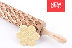 SHEEPS - Embossed, engraved rolling pin for cookies