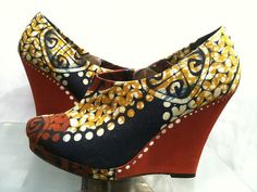 d866a431fc4 African Fabric Shoe Boot Eloana by SouthOfAfrica on Etsy