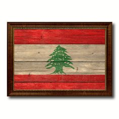 Lebanon Country Flag Texture Canvas Print, Custom Frame Home Decor Gift Ideas Wall Decoration
