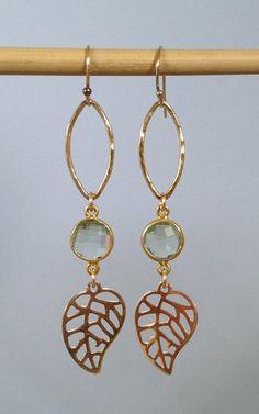 Leaf Earrings, Fall Earrings, Fall Accessories, fall jewelry, Fall colors, leaf jewelry, amethyst earrings, made on Maui