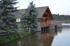 The Evergreen Lake House in Evergreen, Colorado.