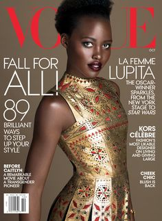 Lupita Nyong'o's Second Vogue Cover! The Star Wars Actress On Hollywood and High Fashion