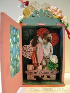 Valentine's Day Shrine by @Laura Carson