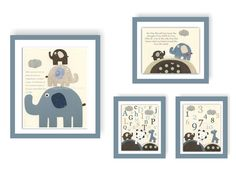 Baby Room Decor Nursery Art baby boy Bradley by DesignByMaya, $58.00