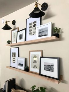 Ikea Picture Ledge, Picture On Wood, Picture Wall, Photo Ledge Display, Wood Photo, Picture Ledge Bedroom, Home Living Room, Living Room Decor, Ikea Pictures