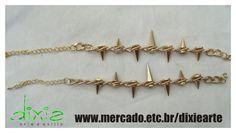 Pulseiras Spikes Douradas    www.mercado.etc.br/dixiearte