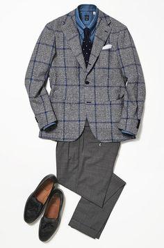 Mens Fashion Wear, Gq Fashion, Blazer Fashion, Outfit Grid, Grey Outfit, Men Design, Traditional Fashion, Mens Clothing Styles, Business Fashion