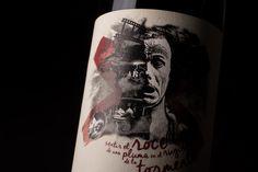 """Sentir el roce"" label by Red Box Mendoza #wine #winelabel #label #labeldesign #design"
