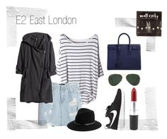 """""""E2 East London"""" by malikoahood ❤ liked on Polyvore featuring Chicnova Fashion, H&M, Ray-Ban, Yves Saint Laurent and NIKE"""