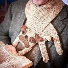 pug scarf - made to order, etsy. WANT.