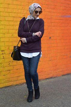 A Day In The Lalz; Anthropologie Jura Funnelneck Pullover; Winter Style; DUMBO Rainbow Wall; Brooklyn; Streetstyle; Hijabi Fashion; Modest Fashion; Fashion Blogger; Haute Hijab; Kendra Scott Necklace; Kate Spade Beau Bag