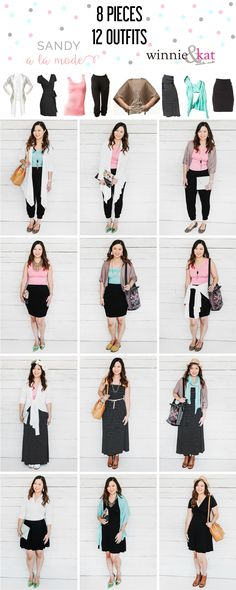 Sandy a la Mode | Fashion Blogger Remixing 8 @winnieandkat pieces into 12 outfits!  Inspirations for capsule wardrobe or stretching your wardrobe. Photos by Lori Romney Photography