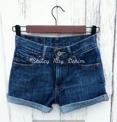 Levis High Waisted Jeans Shorts Levis Cutoffs by BaileyRayDenim