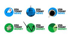 An identity for USA Today, that is as dynamic as the news itself. Within the 6 coloured circles referring to the different sections, a different illustration can be added, together forming a live infographic of that day. Letting the logo be the platform/carriere of the news demontstrates the editorial spirit of the brand.