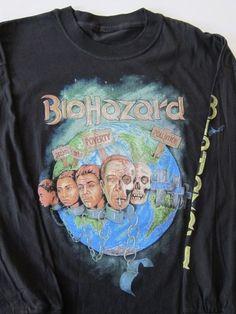 DS vintage Biohazard long-sleeved t-shirt metal punk hardcore 90's L/XL NWOT | Clothing, Shoes & Accessories, Men's Clothing, T-Shirts | eBay!