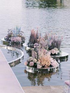 Wedding Backdrop Design, Wedding Flower Backdrop, Wedding Events, Wedding Ceremony, Weddings, Flower Decorations, Wedding Decorations, Floating Flowers, Decoration Inspiration