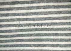 Stoff Streifen - Sanetta Bündchen Überbreite 110 cm platin ger 0,1m - ein Designerstück von larisschen-de bei DaWanda