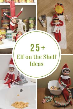 Sharing 25 creative Elf on the Shelf Ideas that your family are sure to look forward to and bring a smile to their faces each day.