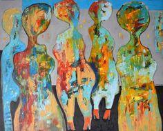"""Saatchi Art Artist Miroslav Hajnos; Painting, """"On the boulevard"""" #art"""