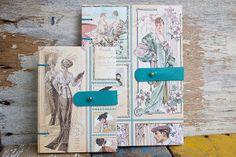 Linha Vintage - Lilou Estúdio #vintage #coptic #leather #20s http://shop.lilouestudio.com