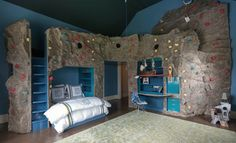 rock climbing room for a kid-London Installation - eclectic - bedroom - london - Colony Rug Company, Inc.