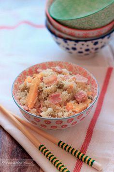"""Cómo hacer Arroz de Coliflor """"Tres Delicias"""". Te enseñamos a hacer paso a paso arroz de coliflor, y luego preparamos una saludable receta que te va a gustar"""