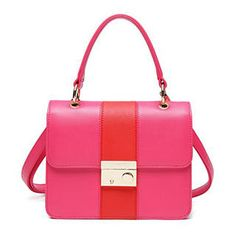 Mbaobao Color Block Flap Satchel Stylish Handbags Fashion Online