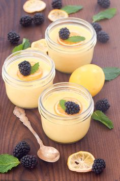 Meyer lemon pot de creme is the perfect make-ahead winter dessert! Light and refreshing.