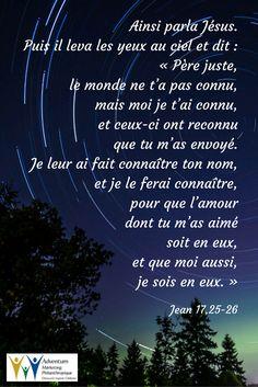 1 juin 2017 – Jean 17,25-26