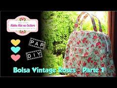 Bolsa Vintage Roses   Parte 1 - YouTube