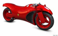 Lean Machine: Ferrari V4 Superbike Concept Ferrari V4 Motorcycle by Amir Glinik. An Israeli designer, created this independent concept of a Ferrari motorbike. The design is outstanding, although pretty unusual, with influences coming from all times Ferrari models, all packed up in a motorbike.  This red beauty rides a V4 engine, derived...