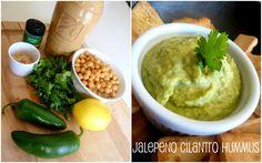 Jalapeno Cilantro Hummus & Roasted Red Pepper Hummus Recipes