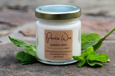 GARDEN MINT is a smooth and crisp candle with notes of mint leaves and peppermint that provide a beautiful herbal and woodsy aroma in even space.