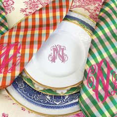 We Love Our Gorgeous Duponi Silk Monogrammed Napkins From PreppyPaperGirl On Etsy.