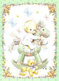Art by Ruth Morehead Baby Images, Cute Images, Cute Pictures, Baby Frame, Baby Prince, Baby Christening, Baby Art, Baby Scrapbook, Kids Cards