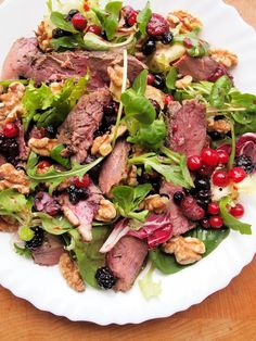 A Romantic Meal for Two – Pan-Fried Duck Breast Salad with Mixed Berries & Walnuts « Lavender and Lovage