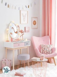 pale pink + rose gold interior
