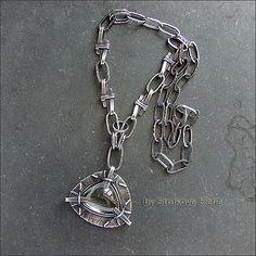 Strukova Elena - авторские украшения - Штука на шею с аквамарином