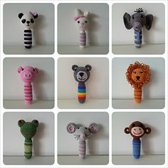 Dieren Rammelaar / Animal rattle by Ilse Naaijkens - FREE PATTERN via Ravelry