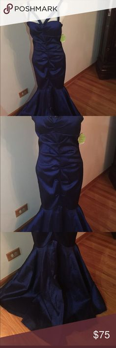 Navy Blue Mermaid Dress New, still with tags. From Windsor  Great for any occasion. Prom/Homecoming, wedding. WINDSOR Dresses Wedding