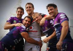 Ryan Hoffman shares the love with his former Storm team mates Rugby League, Rugby Players, Cameron Smith, Favorite Son, Rugby Men, Baby Koala, Beefy Men, Le Male, Athletic Men