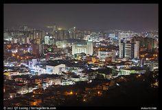 suwon city at night south korea