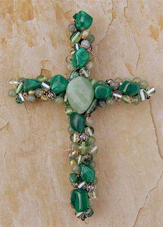Wire Crosses, Wooden Crosses, Crosses Decor, Painted Crosses, Decorative Crosses, Mosaic Crosses, Cross Jewelry, Old Jewelry, Jewelry Art