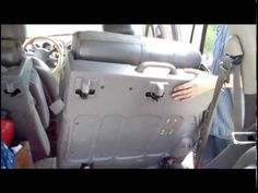 How to remove the back seats from a Chrysler PT Cruiser step by step - YouTube