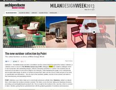 Salimos en Archiproducts/ We are on Archiproducts http://www.archiproducts.com/en/news/33278/the-new-outdoor-collection-by-point.html