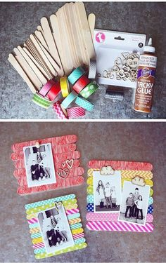 Diy Geschenk Basteln - DIY Birthday gift ideas for the kids to make - popsicle stick picture . Diy Geschenk Basteln - DIY Birthday gift ideas for the kids to make - popsicle stick picture magents - . Diy Gifts For Mom, Diy Mothers Day Gifts, Easy Diy Gifts, Fathers Day Crafts, Kids Gifts, Craft Gifts, Handmade Gifts, Grandparent Gifts, Cadre Photo Diy