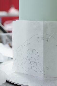 hello naomi: planet cake springtime course! How to transfer images to a cake.