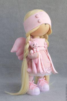 Купить кукла Ангел - комбинированный, кукла ручной работы, кукла, кукла в подарок, кукла интерьерная Pretty Dolls, Cute Dolls, Beautiful Dolls, Sewing Dolls, Doll Tutorial, Homemade Dolls, Waldorf Dolls, Soft Dolls, Stuffed Animal Patterns