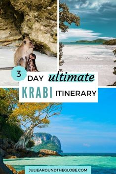 Krabi Itinerary - How to spend a perfect vacation - Julie Around The Globe - - Everything you need to plan your Krabi itinerary: best places to visit, what to do, where to stay, suggested 2 and 3 days routes. Travel Route, Asia Travel, Places To Travel, Travel Destinations, Travel Abroad, Hawaii Travel, Holiday Destinations, Italy Travel, Luang Prabang